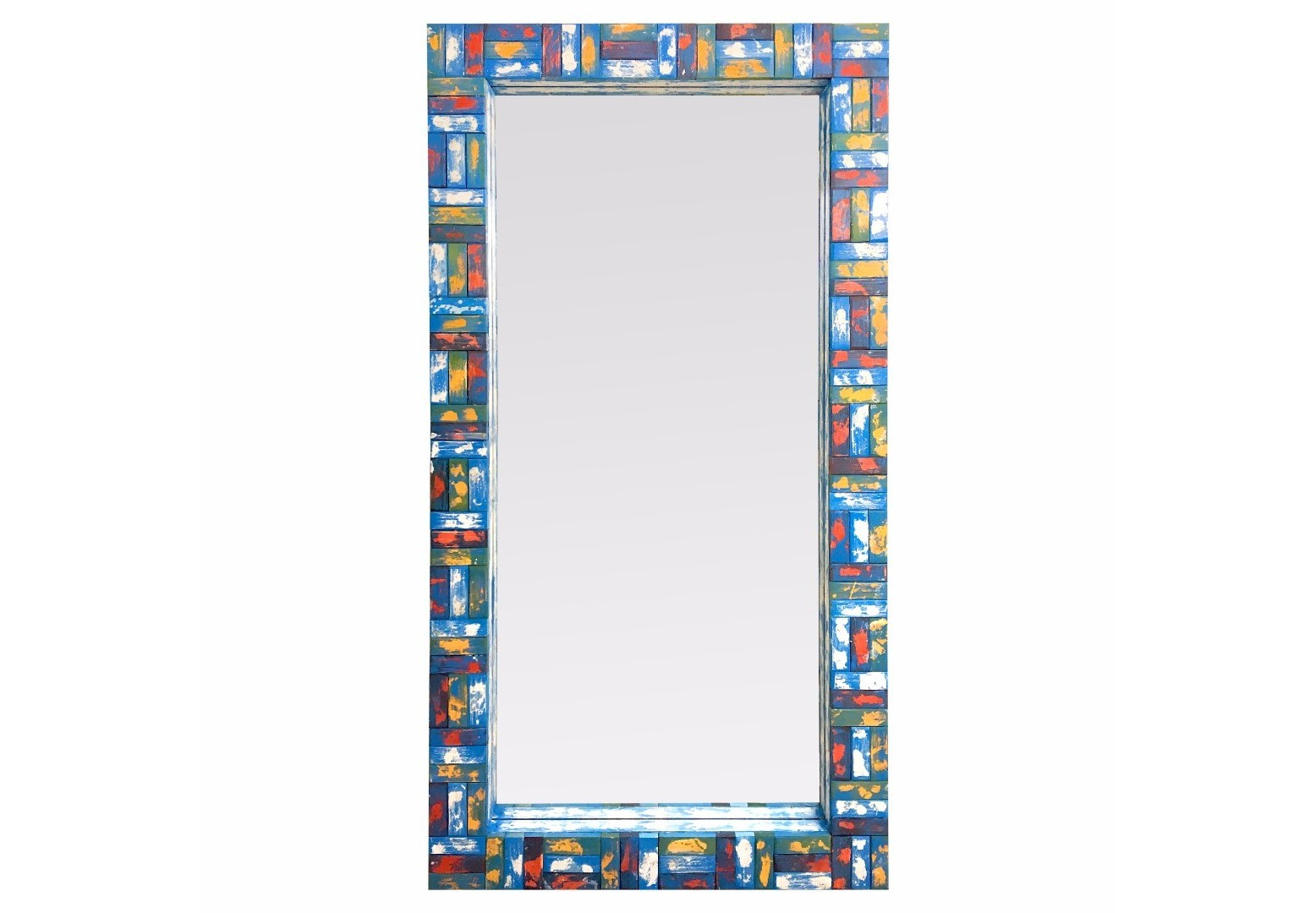 Зеркало VivoНастенные зеркала<br>Эти зеркала - наш эксперимент в своем роде. Нам захотелось привнести солнца и красок в пасмурный день. Они уникальны тем, что рама каждого состоит из мелких элементов, собранных воедино как пазл. Каждая деталь из массива дерева вручную выпиливалась, декорировалась и с ювелирной точностью выкладывалась руками наших мастеров. За жизнерадостный стиль мы назвали эту серию ViVo от испанского живой. Сочный дизайн удивляет яркими оттенками, создающими красочное единство. Центральное зеркальное полотно посажено вглубь. Этот прием позволяет придать зеркалу объем и дополнительное боковое отражение. Зеркала ViVo добавят в ваше пространство энергию, радость и наполнят жизнью.&amp;nbsp;Возможно изготовление по Вашим цветам и размерам.Материал: массив дерева .Ширина рамы 12 см.<br><br>kit: None<br>gender: None