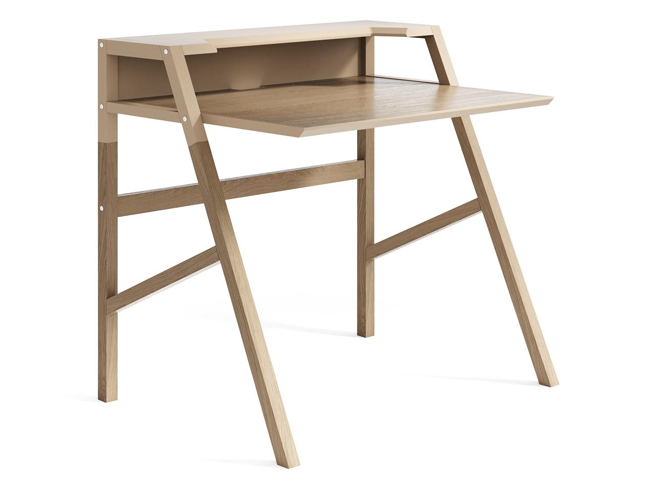 Рабочий стол Youk (осветленный)Обеденные столы<br>Компьютерный стол YOUK является воплощением идеи функциональности. Удобная рабочая поверхность, полка для канцелярии, углубление для монитора, отверстие для проводов – эти детали создают действительно комфортное рабочее место.Материал: массив дуба, МДФ, натуральный шпон дуба, лак<br><br>kit: None<br>gender: None