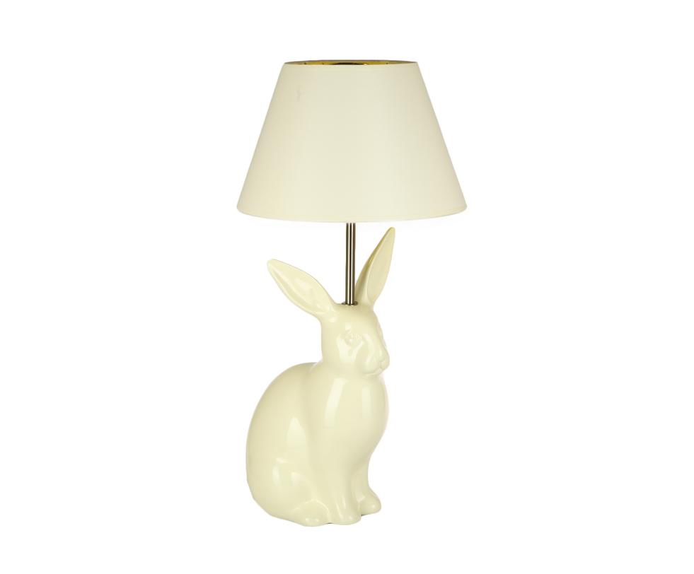 Настольная лампа кроликДекоративные лампы<br>Невероятно стильная лампа привлекает внимание оригинальным дизайном и смелым стилистическим решением. Этот светильник не только дарит приглушенный свет из-под темного абажура, но и является самым настоящим арт-объектом.<br><br>Цвет: белый&amp;lt;div&amp;gt;&amp;lt;br&amp;gt;&amp;lt;/div&amp;gt;&amp;lt;div&amp;gt;&amp;lt;div&amp;gt;Вид цоколя: E27&amp;lt;/div&amp;gt;&amp;lt;div&amp;gt;Мощность: 60W&amp;lt;/div&amp;gt;&amp;lt;div&amp;gt;Количество ламп: 1&amp;lt;/div&amp;gt;&amp;lt;/div&amp;gt;<br><br>Material: Керамика<br>Ширина см: 30.0<br>Высота см: 65.0<br>Глубина см: 30.0