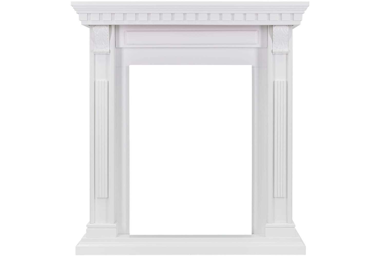 Портал OrleanКамины, порталы и очаги<br>Портал Orlean представлен в цвете белый дуб. Минимум деталей и декора не перегрузят интерьер и камин будет органично смотреться в помещениях в стиле классика.<br><br>Узкая столешница и пьедестал добавляют порталу изящности, узкие колонны  с резным орнаментом красиво обрамляют зону очага.<br><br>К порталу Orlean подходит очаг Viotta с эффектом пламени Optiflame.<br><br>Material: МДФ<br>Ширина см: 88.5<br>Высота см: 95.5<br>Глубина см: 37