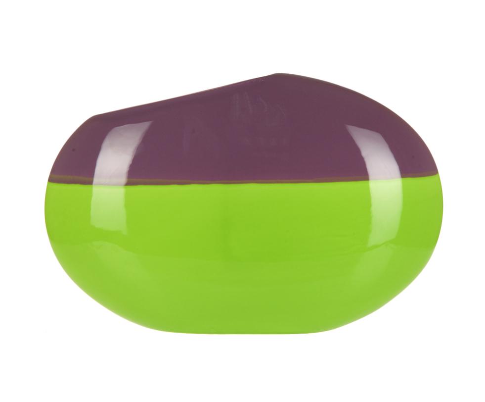 Ваза малаяВазы<br>Очень яркая массивная ваза. Станет насыщенным цветовым акцентом в интерьере. Стилистически она самостоятельна, обладает выразительной индивидуальностью.<br><br>Material: Керамика<br>Width см: 33<br>Depth см: 9<br>Height см: 21