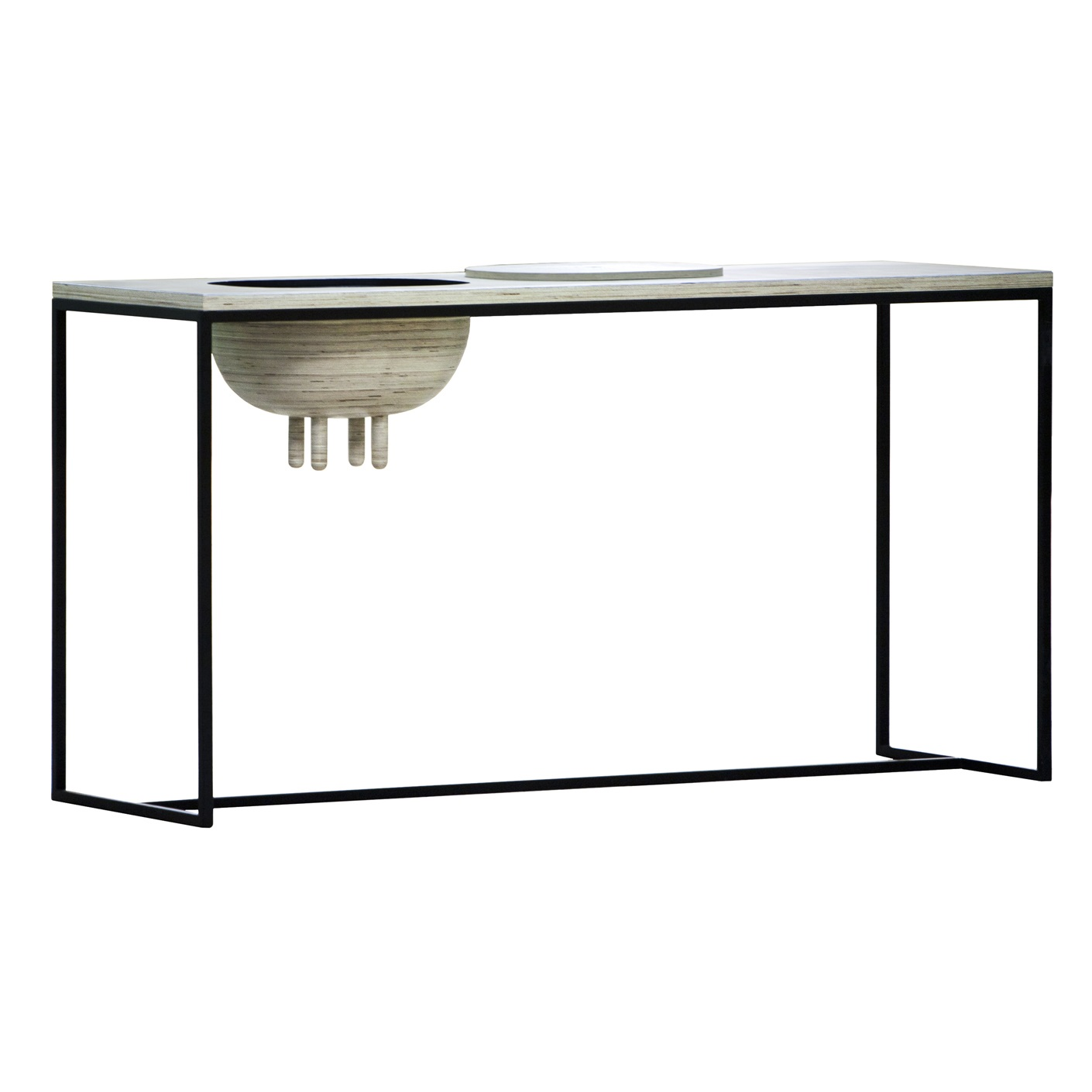 Стол UdderhealthБарные столы<br>Оригинальный стол со скрытым местом для хранения в виде коровьего вымени. Каркас из профильной трубы и столешница из березовой фанеры, покрытой водным лаком.&amp;amp;nbsp;&amp;lt;div&amp;gt;&amp;lt;br&amp;gt;&amp;lt;/div&amp;gt;&amp;lt;div&amp;gt;Материал: березовая фанера 30 мм, стальная труба 30х30 мм.&amp;lt;br&amp;gt;&amp;lt;/div&amp;gt;&amp;lt;div&amp;gt;Особенности: в вымени располагается система хранения, на основание крепится мебельный войлок.&amp;lt;br&amp;gt;&amp;lt;/div&amp;gt;<br><br>Material: Фанера<br>Ширина см: 170<br>Высота см: 90<br>Глубина см: 60
