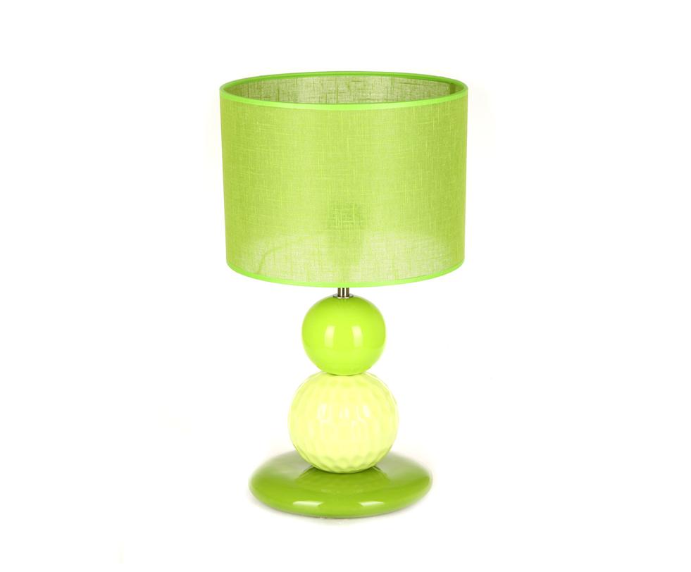 Настольная лампаДекоративные лампы<br>Яркая лампа от португальской компании Farol - красивый и оригинальный предмет декора интерьера. Керамическое основание и абажур цвета сочного зеленого яблока привнесут в интерьер атмосферу солнечного лета. Лампа отлично подойдет для создания в помещении ярких цветовых акцентов.&amp;lt;div&amp;gt;&amp;lt;br&amp;gt;&amp;lt;/div&amp;gt;&amp;lt;div&amp;gt;&amp;lt;div&amp;gt;Вид цоколя: E27&amp;lt;/div&amp;gt;&amp;lt;div&amp;gt;Мощность: 60W&amp;lt;/div&amp;gt;&amp;lt;div&amp;gt;Количество ламп: 1&amp;lt;/div&amp;gt;&amp;lt;/div&amp;gt;<br><br>Material: Керамика<br>Length см: None<br>Width см: None<br>Depth см: None<br>Height см: 44.0<br>Diameter см: 26.0