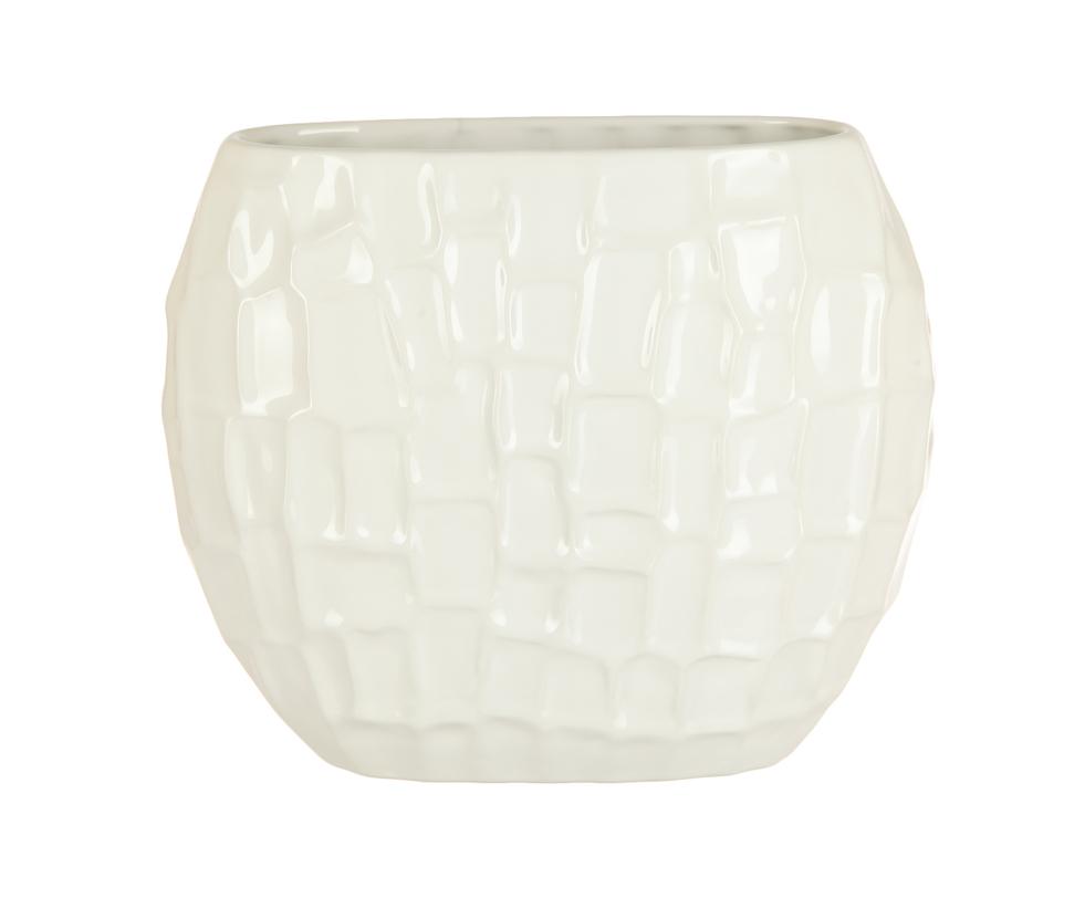 Ваза декоративная белаяВазы<br><br><br>Material: Керамика<br>Ширина см: 13<br>Высота см: 23