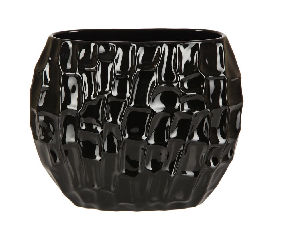 Ваза декоративная темнаяВазы<br><br><br>Material: Керамика<br>Length см: 13<br>Width см: 29<br>Height см: 23