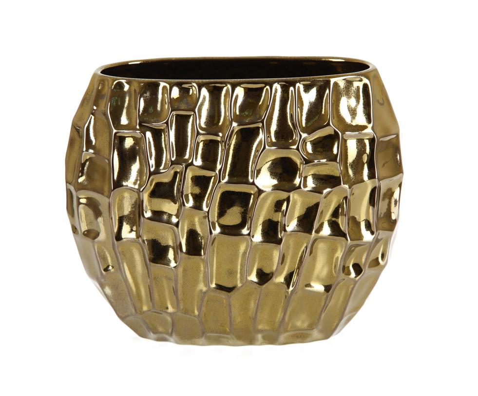 Ваза декоративная золотоВазы<br><br><br>Material: Керамика<br>Length см: 13.0<br>Width см: 29.0<br>Depth см: None<br>Height см: 23.0<br>Diameter см: None