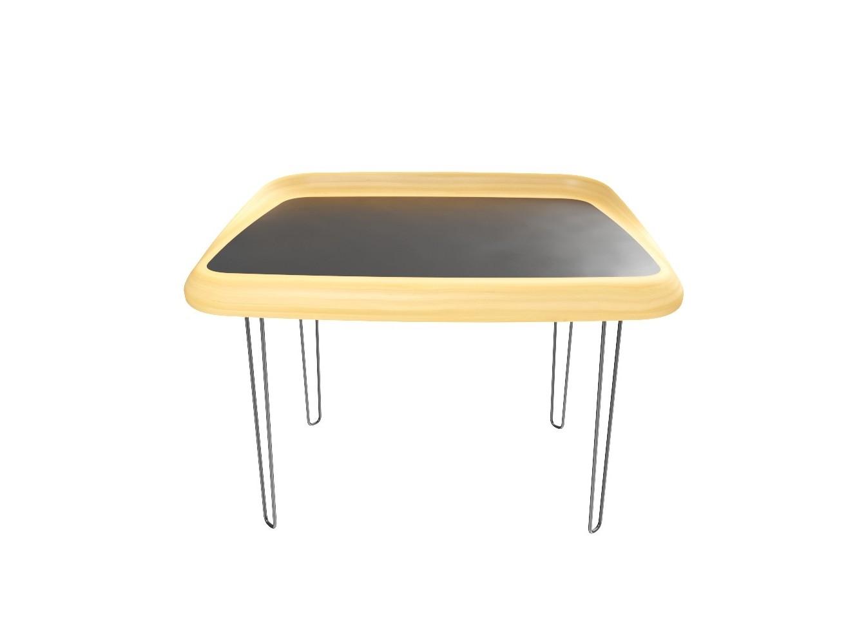 Компьютерный стол NodПисьменные столы<br>NOD это стол с удобной рабочей поверхностью. Форма стола позволяет разместить на поверхности необходимую технику и принадлежности. Он создаст полноценное рабочее место, но при этом сэкономит пространство комнаты.&amp;nbsp;Размеры: высота ножек -  72 см, высота деревянной части - 9 см<br><br>kit: None<br>gender: None