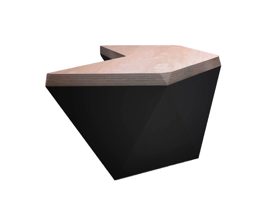 Стол гексагон (archpole) белый 132x74x114 см.