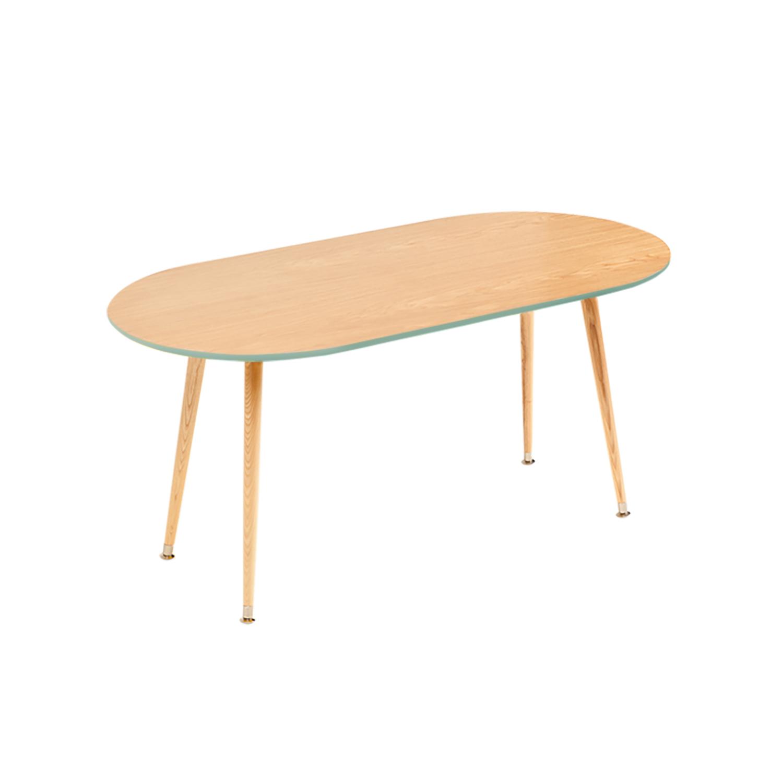 Журнальный столик SoapЖурнальные столики<br>&amp;lt;div&amp;gt;Журнальный столик в стиле 50-х годов Soap входит в коллекцию журнальных столиков Woodi Furniture. Журнальный столик покрыт высокопрочным лаковым покрытием, что делает его идеальным предметом мебели для ресторанов, кафе и баров, а также для любых других общественных пространств. Классическая для стиля 50-х годов эргономичная форма не утяжеляет пространство, а размер столешницы журнального столика для гостиной делает его удобным для больших компаний.&amp;amp;nbsp;&amp;lt;/div&amp;gt;&amp;lt;div&amp;gt;&amp;lt;br&amp;gt;&amp;lt;/div&amp;gt;&amp;lt;div&amp;gt;Четыре высокие ножки конической формы, выполненные из массива бука и покрытые прозрачным лаком, сужаются книзу, что добавляет столику элегантности и легкости. Нижняя часть ножек украшена металлическими наконечниками стального цвета. Верхняя часть столешницы, которая изготовлена из МДФ, покрыта натуральным дубовым шпоном, нижняя часть столешницы и боковой кант окрашены в цвета из палитры Woodi Furniture.&amp;amp;nbsp;&amp;lt;/div&amp;gt;&amp;lt;div&amp;gt;&amp;lt;br&amp;gt;&amp;lt;/div&amp;gt;&amp;lt;div&amp;gt;Журнальный столик для гостиной Soap может использоваться по отдельности или в комбинации с другими журнальными столиками Woodi Furniture. Журнальный столик в стиле 50-х годов Soap легко собирается без шурупов и инструментов.&amp;lt;/div&amp;gt;&amp;lt;div&amp;gt;&amp;lt;br&amp;gt;&amp;lt;/div&amp;gt;&amp;lt;div&amp;gt;Материал: столешница – МДФ, лакированный дубовый шпон, краска; ножки – массив бука, лак.&amp;lt;br&amp;gt;&amp;lt;/div&amp;gt;<br><br>Material: МДФ<br>Ширина см: 120<br>Высота см: 59<br>Глубина см: 60
