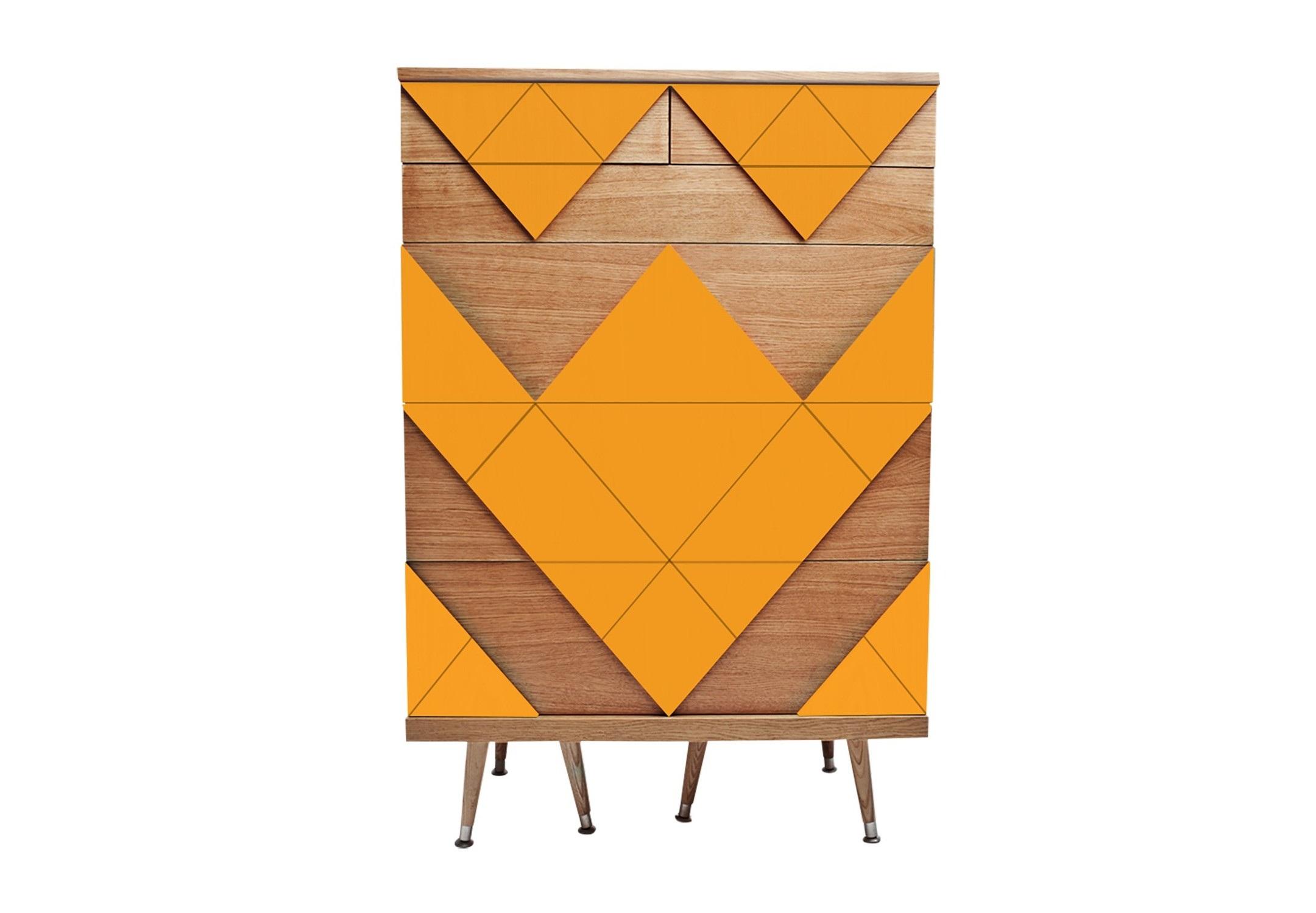 Комод Big WooБельевые комоды<br>&amp;lt;div&amp;gt;Современный комод Big Woo дал начало целой коллекции корпусной мебели Woo Family. Он назван так неслучайно, Big Woo является самым вместительным и большим комодом Woodi Furniture. Комод Big Woo имеет достаточно традиционную форму с тремя выдвижными ящиками большого размера, для хранения крупных предметов, и тремя ящиками меньшего размера, для хранения ценных мелочей и небольших предметов гардероба. Комод с ящиками идеально подойдет тем, кто предпочитает закрытые системы хранения одежды в спальне или гардеробной, или для тех, кто ищет мебель для гостиной с возможностью хранения различных вещей.&amp;amp;nbsp;&amp;lt;/div&amp;gt;&amp;lt;div&amp;gt;&amp;lt;br&amp;gt;&amp;lt;/div&amp;gt;&amp;lt;div&amp;gt;Корпус комода с выдвижными ящиками изготовлен из МДФ и покрыт натуральным дубовым шпоном. Фасады ящиков украшает двухмерный геометрический узор окрашенный в различные цвета из палитры Woodi Furniture. Выдвижные ящики комода открываются легким нажатием на центр ящика. Внутри ящики изготовлены из ЛДСП повторяющего текстуру и цвет дубового шпона. Дизайнерский комод Big Woo опирается на шесть ножек конической формы, выполненных из массива бука, что визуально добавляет легкости комоду. Нижняя часть ножек украшена металлическими наконечниками стального цвета.&amp;lt;/div&amp;gt;&amp;lt;div&amp;gt;&amp;lt;br&amp;gt;&amp;lt;/div&amp;gt;&amp;lt;div&amp;gt;Материал: Корпус - МДФ, лакированный дубовый шпон, краска; ножки – массив бука, лак.&amp;lt;/div&amp;gt;<br><br>Material: МДФ<br>Ширина см: 80.0<br>Высота см: 120.0<br>Глубина см: 50.0