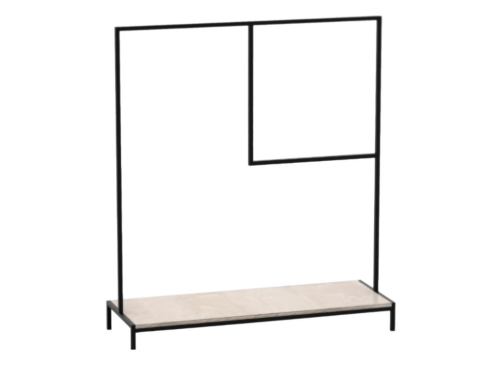 Рейл для одежды с полкой Metalframe CВешалки<br>Особенности: на основание крепится мебельный войлокВозможно изготовление в других размерах и отделке. Подробности уточняйте у менеджера.<br><br>kit: None<br>gender: None