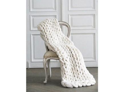 Плед zefir (zefir) белый 100x150 см.