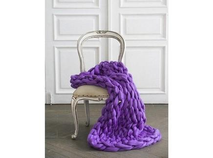 Плед zefir (zefir) фиолетовый 100.0x150.0 см.