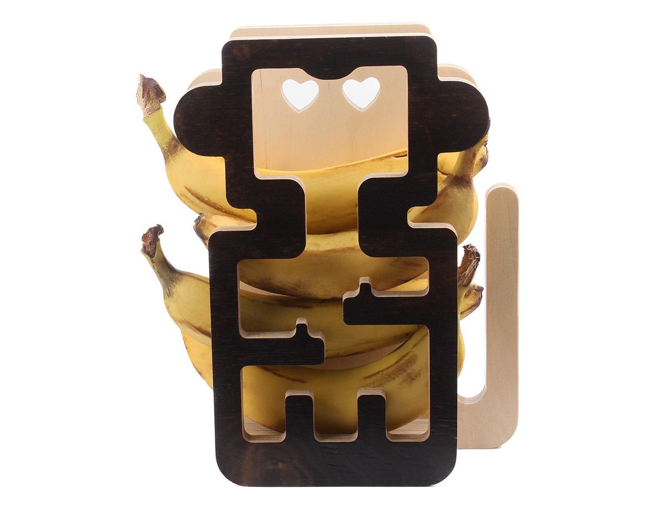 Держатель для бананов Monkey helperДругое<br>Материал: березовая фанера, огонь, водный лакДоп. предметы на фото в стоимость не входят.<br><br>kit: None<br>gender: None