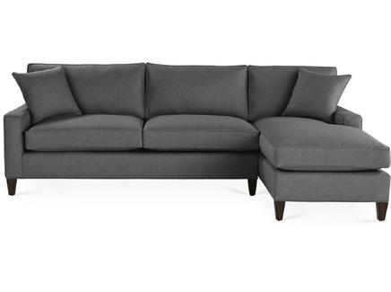 Диван hoss (icon designe) серый 275x88x162 см.