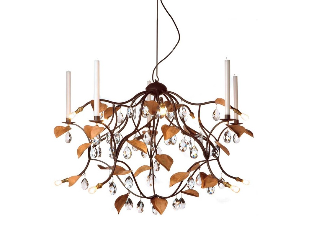 Люстра HerbstЛюстры подвесные<br>Название модели &amp;quot;Herbst&amp;quot; (с немецкого &amp;quot;осень&amp;quot;) задает цветовое решение люстры: бронзовые листочки и прозрачные хрустальные подвески. Дополнительно к лампочкам (или отдельно от них) можно зажечь 5 восковых свечей диаметром 2,2 см.&amp;lt;div&amp;gt;&amp;lt;br&amp;gt;&amp;lt;/div&amp;gt;&amp;lt;div&amp;gt;&amp;lt;div&amp;gt;Вид цоколя: Ba15d&amp;lt;/div&amp;gt;&amp;lt;div&amp;gt;Мощность:&amp;amp;nbsp; 40W&amp;lt;/div&amp;gt;&amp;lt;div&amp;gt;Количество ламп: 10 (в комплекте)&amp;lt;/div&amp;gt;&amp;lt;/div&amp;gt;<br><br>Material: Хрусталь<br>Ширина см: 100.0<br>Высота см: 65.0<br>Глубина см: 100.0