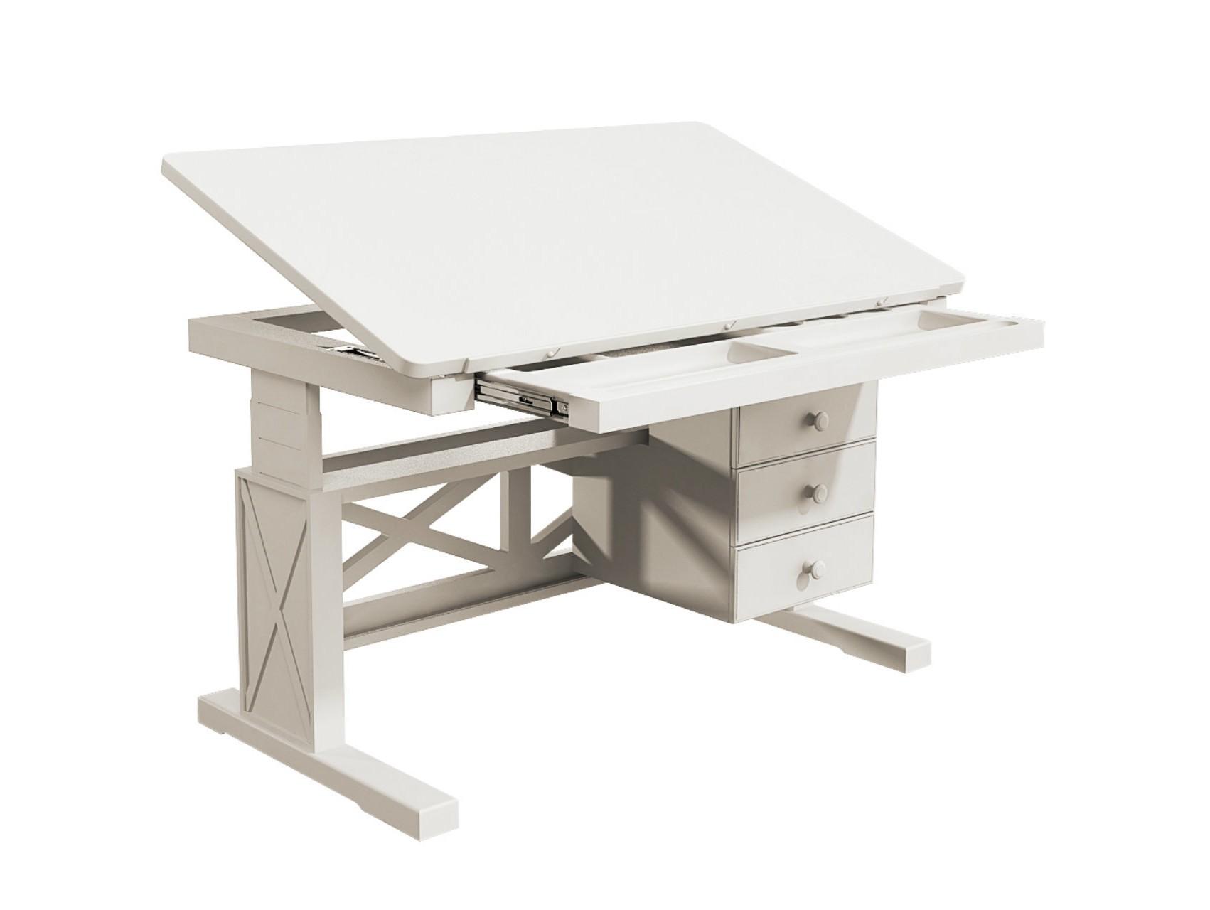 Стол письменный «Океан»Детские письменные столики<br>Стол письменный регулируемый, 3 выдвижных боковых ящика, 1 выдвижной центральный ящик.&amp;nbsp;Регулируется наклон столешницы и высота стола.Материал: бук, мдф<br><br>kit: None<br>gender: None