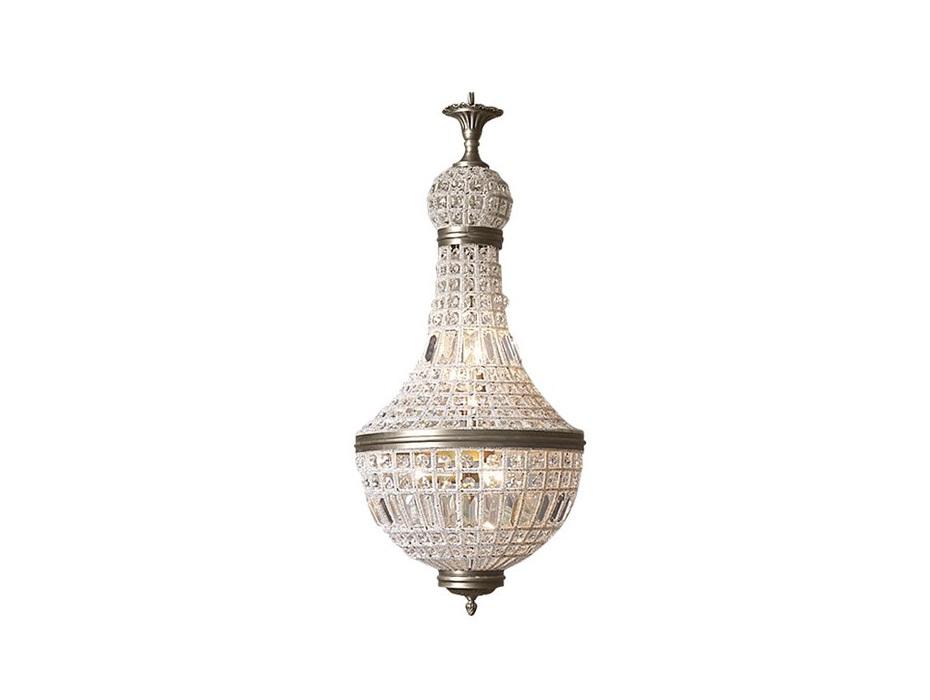ЛюстраЛюстры подвесные<br>Подвесной светильник в стиле French Empire выполнен из множества кристаллов разной величины и формы, расположенных на металлическом каркасе. Отделка металла античная латунь.&amp;lt;div&amp;gt;&amp;lt;br&amp;gt;&amp;lt;/div&amp;gt;&amp;lt;div&amp;gt;&amp;lt;div&amp;gt;Вид цоколя: E14&amp;lt;/div&amp;gt;&amp;lt;div&amp;gt;Мощность:&amp;amp;nbsp;40W&amp;lt;/div&amp;gt;&amp;lt;div&amp;gt;Количество ламп: 6 (нет в комплекте)&amp;lt;/div&amp;gt;&amp;lt;/div&amp;gt;<br><br>Material: Хрусталь<br>Ширина см: 34.0<br>Высота см: 76.0<br>Глубина см: 34.0