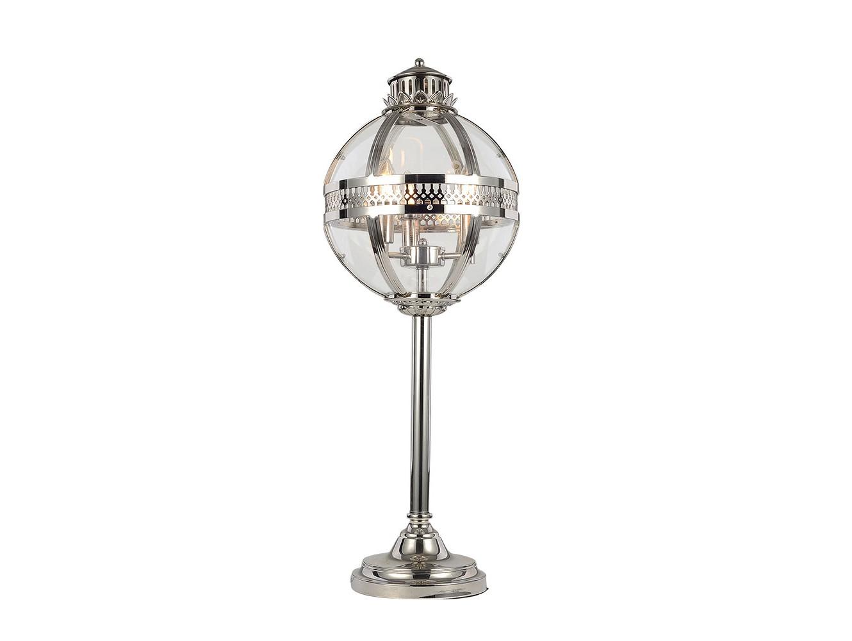 Настольная лампаДекоративные лампы<br>Настольная лампа-латерна выполнена из никелированного металла. Створки плафона выполнены из прозрачного стекла.&amp;lt;div&amp;gt;&amp;lt;br&amp;gt;&amp;lt;/div&amp;gt;&amp;lt;div&amp;gt;&amp;lt;div&amp;gt;Вид цоколя: E27&amp;lt;/div&amp;gt;&amp;lt;div&amp;gt;Мощность:&amp;amp;nbsp; 60W&amp;lt;/div&amp;gt;&amp;lt;div&amp;gt;Количество ламп: 3 (нет в комплекте)&amp;lt;/div&amp;gt;&amp;lt;/div&amp;gt;<br><br>Material: Стекло<br>Ширина см: 30.0<br>Высота см: 84.0<br>Глубина см: 30.0