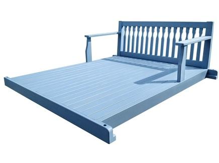 Подвесная кровать прованс (sofaswing) синий 210x80x170 см.