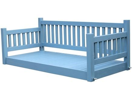 Подвесной диван лидер (sofaswing) синий 210x85x70 см.