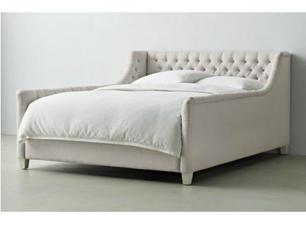 Кровать devyn tufted bed (ml) бежевый 194.0x100.0x215.0 см.