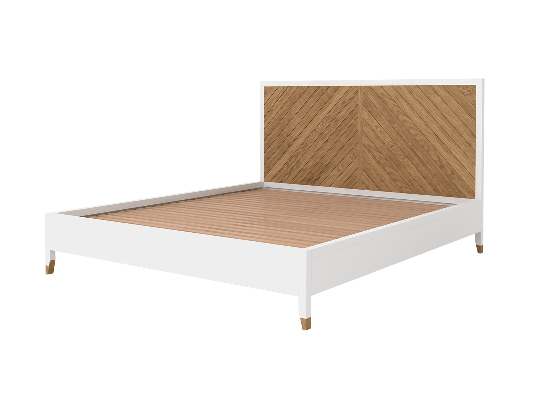 Кровать двуспальная ArnikaДеревянные кровати<br>Кровать двуспальная из коллекции Arnika.&amp;nbsp;Выполнена из массива дуба.&amp;nbsp;Цвет - белый с выделением текстуры древесины, теплый дуб.&amp;nbsp;Размер матраса: 180х200 см.&amp;nbsp;Ламельное основание входит в стоимость.&amp;nbsp;Требует сборки, крепления входят в стоимость.<br><br>kit: None<br>gender: None