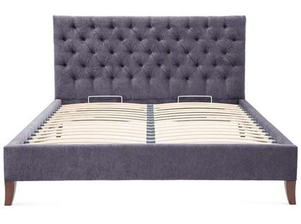 Мягкая кровать city (myfurnish) фиолетовый 150x120x212 см.