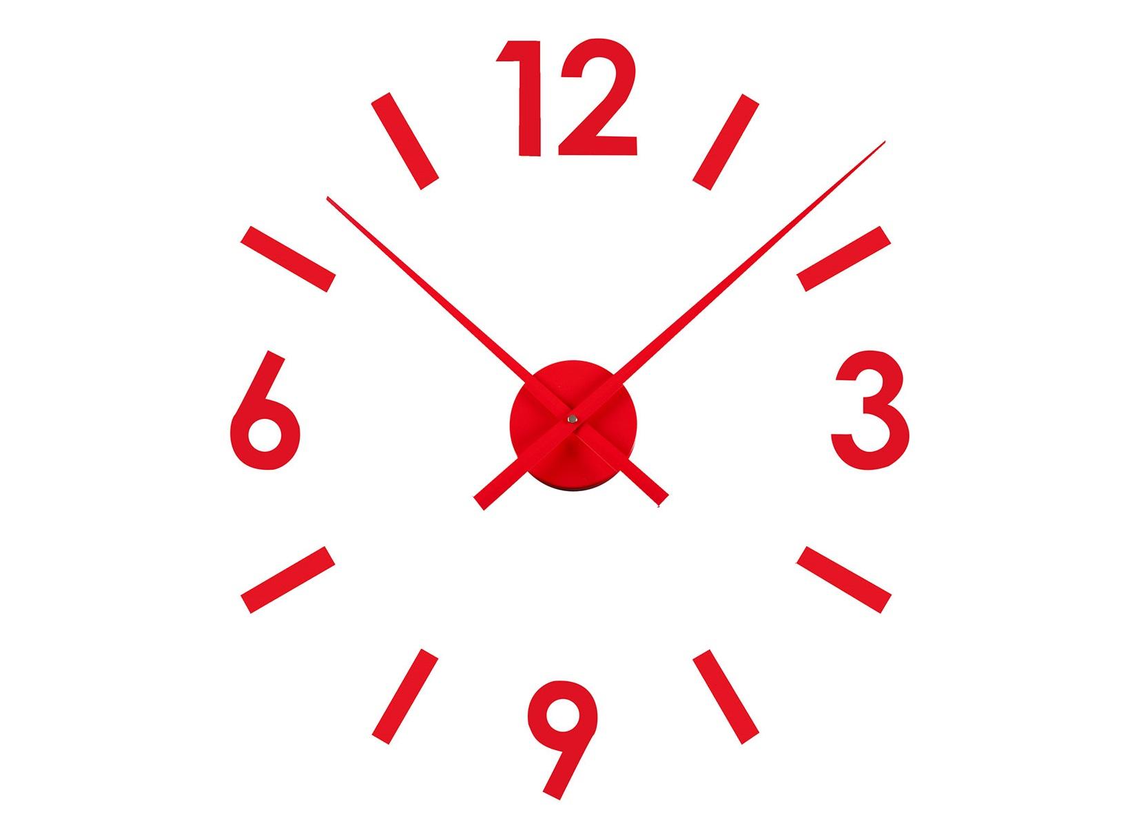 Часы StickerНастенные часы<br>Тип механизма: кварцевые.<br><br>Material: Пластик<br>Глубина см: 5.0