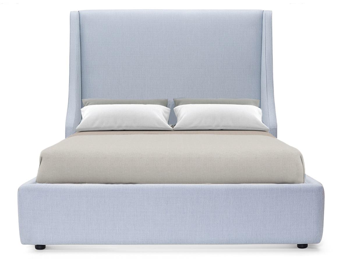 Мягкая кровать aby (myfurnish) серый 203.0x130.0x212.0 см. фото