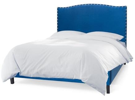 Мягкая кровать icon (myfurnish) синий 150x130x212 см.