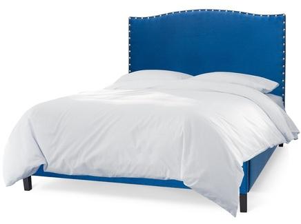 Мягкая кровать icon (myfurnish) синий 210.0x130.0x212.0 см.