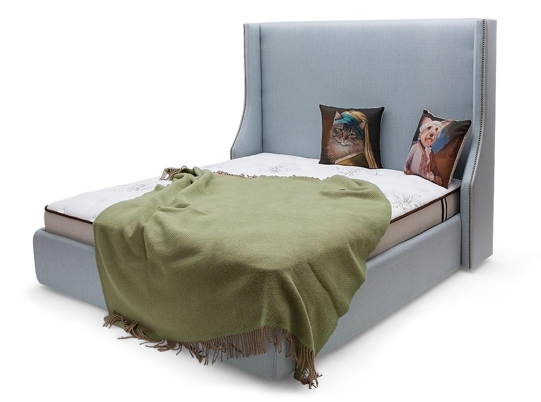 Мягкая кровать aby lux (myfurnish) серый 163.0x130.0x212.0 см. фото