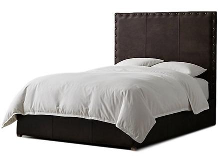 Мягкая кровать falcon (myfurnish) коричневый 210x150x215 см.