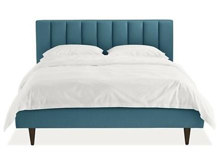 Мягкая кровать houston (myfurnish) бирюзовый 150x120x212 см.
