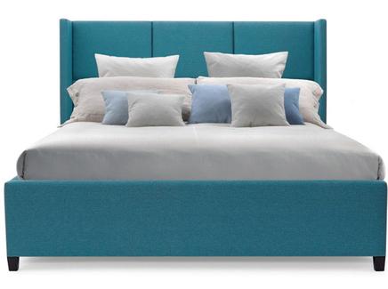Мягкая кровать boston (myfurnish) бирюзовый 163.0x130.0x212.0 см.