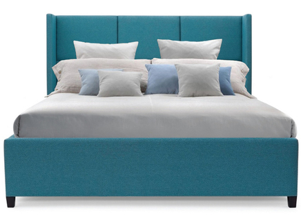 Мягкая кровать boston (myfurnish) бирюзовый 203.0x130.0x212.0 см.
