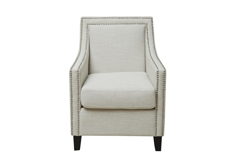Кресло Severin ArmchairИнтерьерные кресла<br>Одновременно скромное и элегантное кресло в белом цвете — спутник комфортного отдыха. Пухлая подушка, мягкие спинка и подлокотники расслабят уставшие мышцы. Особый шарм создают декоративный кант из мебельных гвоздиков и контрастные ножки.&amp;amp;nbsp;Кресло &amp;quot;Severin Armchair&amp;quot; найдет своем место в любом пространстве. Остается только решить, где лучше его поставить.<br><br>Material: Текстиль<br>Ширина см: 71<br>Высота см: 92<br>Глубина см: 84