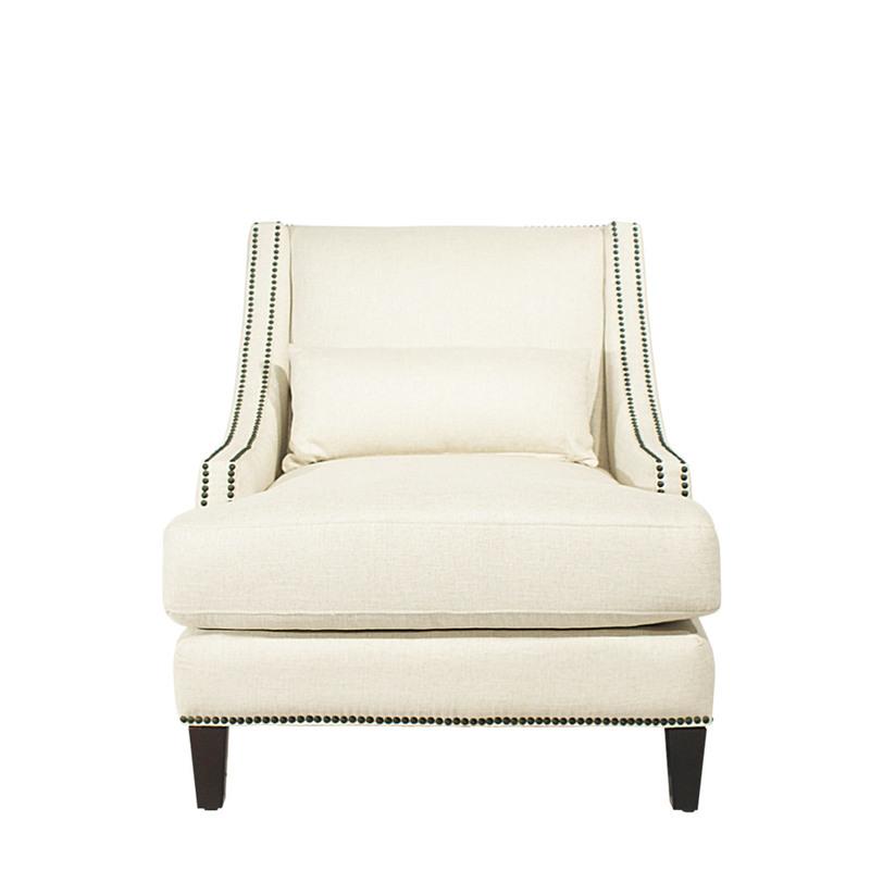 Кресло DelfiИнтерьерные кресла<br>Кресло Delfi - удобное кресло с широким и глубоким сиденьем. Кресло особенно комфортно благодаря низкой посадке и покатой спинке. Обивка из серого льна констрастирует с невысокими ножками черного цвета. Кресло декорировано металлическими заклепками.<br><br>Варианты обивки:<br>- вельвет кофейный (V02)<br>- светлый лен (F06)<br><br>Material: Лен<br>Ширина см: 84<br>Высота см: 89<br>Глубина см: 97