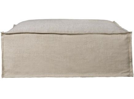 Мягкий стол (gramercy) серый 128x50.0x128.0 см.