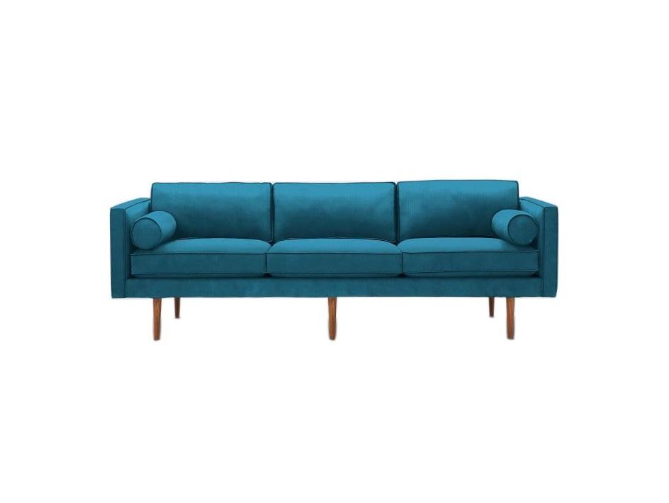 Myfurnish диван трехместный blues голубой  82342/6
