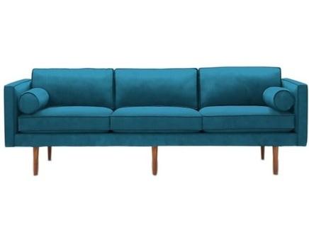 Диван трехместный blues (myfurnish) голубой 215x78x88 см.