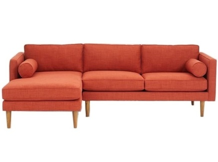 Угловой диван blues (myfurnish) оранжевый 215x76x147 см.