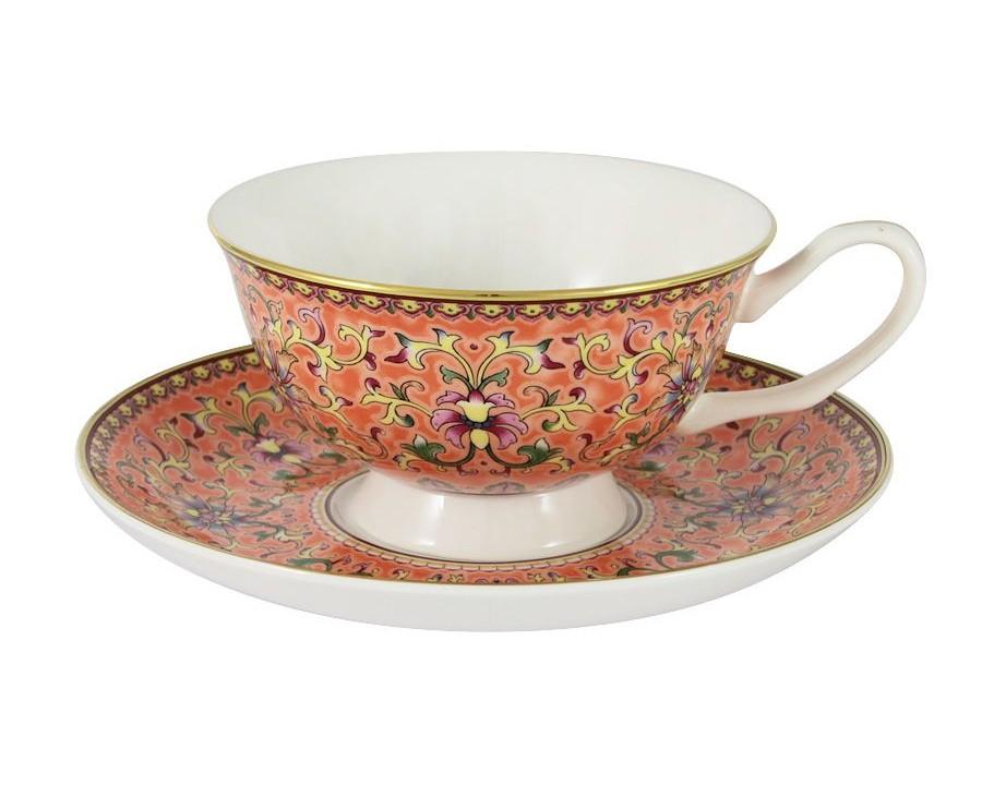 Чашка с блюдцем Восточный дворецЧайные пары, чашки и кружки<br><br><br>Material: Фарфор