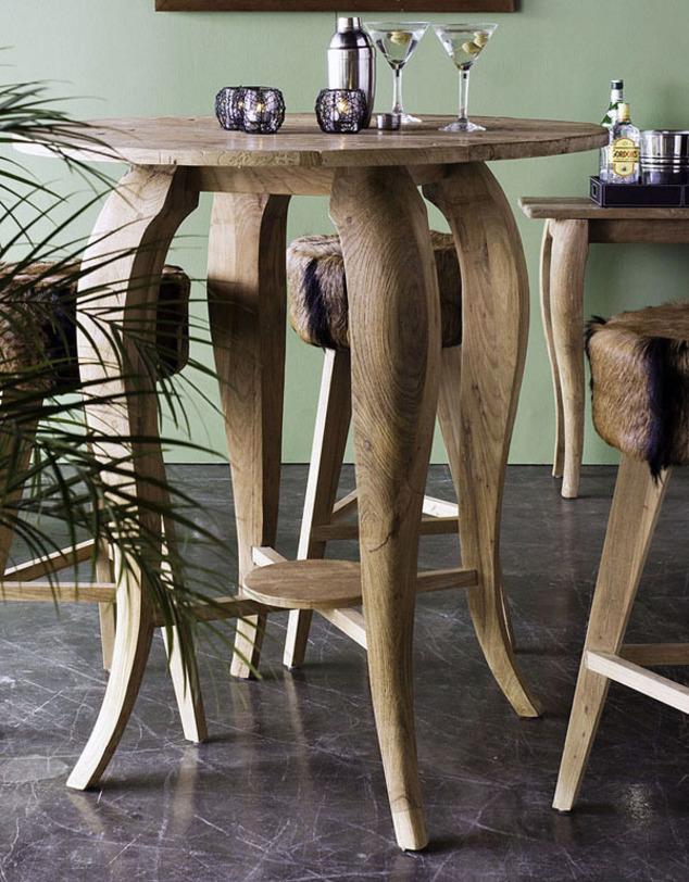 Стол барный Lucy 100Барные столы<br><br><br>Material: Тик<br>Height см: 100<br>Diameter см: 100