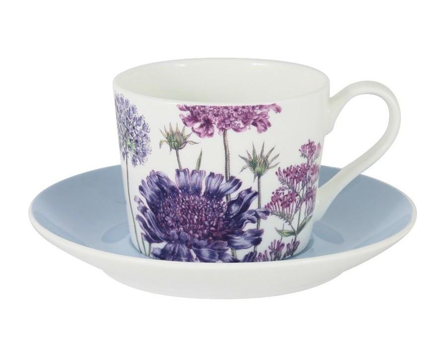 Чашка с блюдцем ЛаураЧайные пары, чашки и кружки<br>Объем: 0.25л.<br><br>Material: Фарфор
