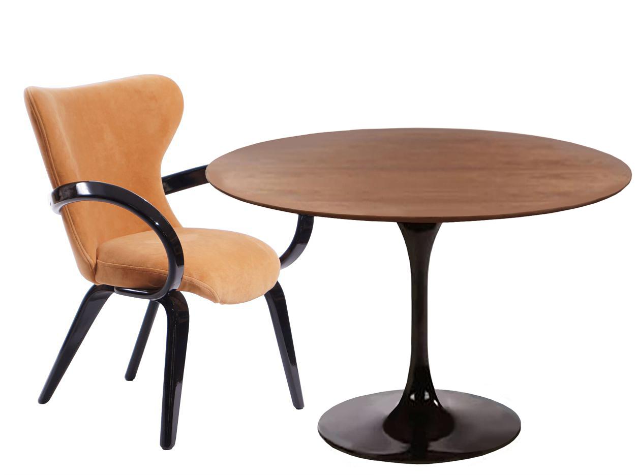 Обеденная группа Apriori TКомплекты для столовой<br>Обеденный круглый стол с лаконичным основанием из акрилового камня. <br>Стол в комплекте со стульями серии  &amp;quot;априори S&amp;quot;. Такой яркий деревянный стул будет актуален для современного интерьера или стиля лофт. Он отлично подойдёт для дома, лоджии, сада, а также для кафе и баров.&amp;amp;nbsp;&amp;lt;div&amp;gt;&amp;lt;br&amp;gt;&amp;lt;/div&amp;gt;&amp;lt;div&amp;gt;Материалы:&amp;amp;nbsp;&amp;lt;/div&amp;gt;&amp;lt;div&amp;gt;Стол: Акриловый камень, эмаль черная, столешница орех Д90.&amp;lt;/div&amp;gt;&amp;lt;div&amp;gt;Стул Apriori S: эмаль черная глянцевая  15тон, обивка стула: ткань sensation оранжевая.&amp;lt;/div&amp;gt;<br><br>Material: Акрил<br>Ширина см: 62.0<br>Высота см: 85.0<br>Глубина см: 75.0