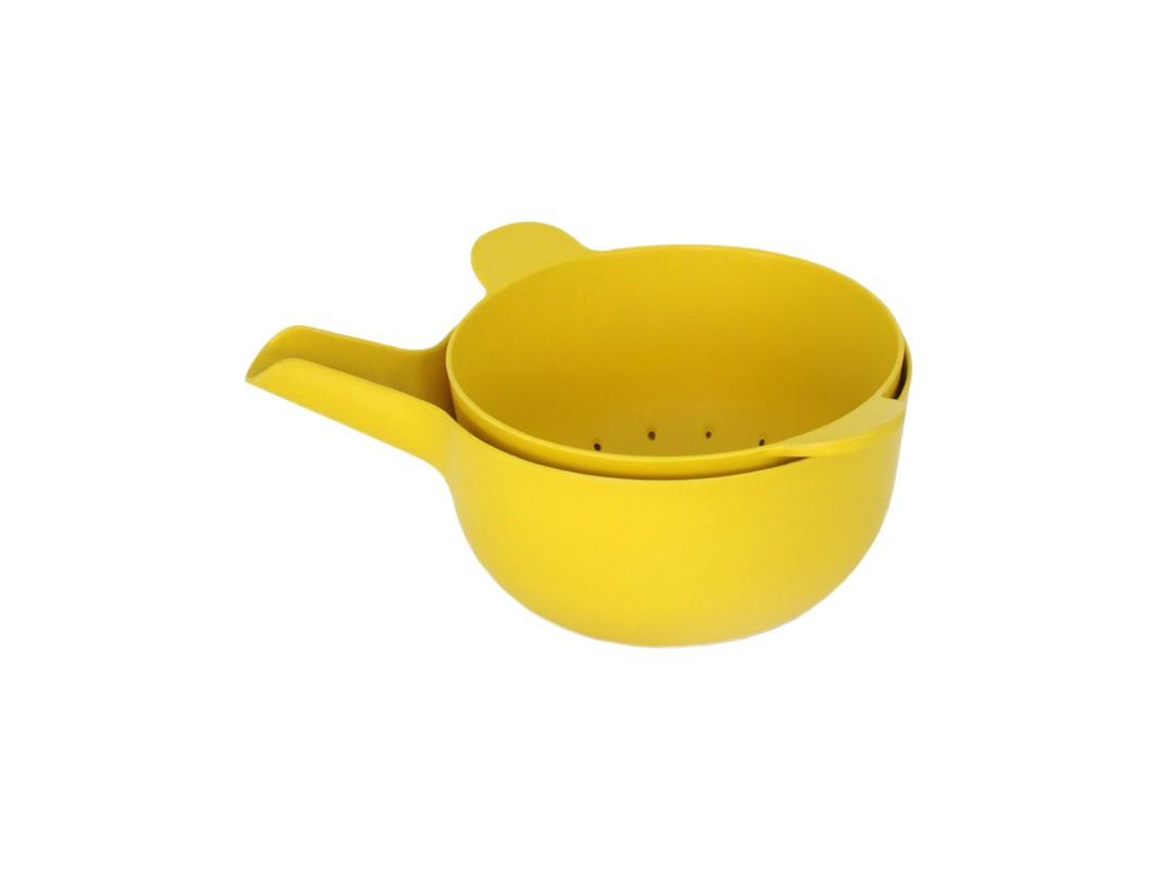 Набор с дуршлагом Pronto (2 шт)Аксессуары для кухни<br>Материал: бамбук, пищевой меламин<br><br>Material: Бамбук<br>Ширина см: 22.0<br>Высота см: 12.0<br>Глубина см: 21.0