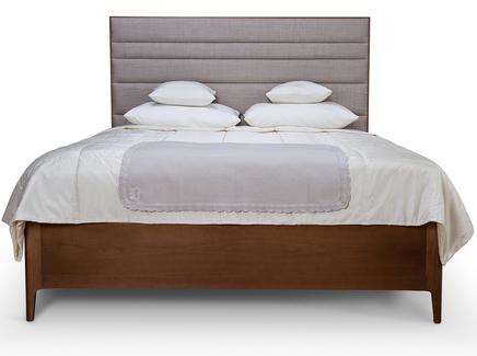 Деревянная кровать branco (myfurnish) коричневый 211x135x166 см.