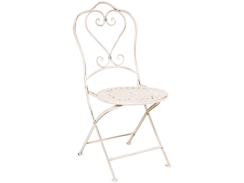 Складной стул «Жарден»Стулья для сада<br>Романтика и свет, нарисованные тонким плавным корпусом стула Жарден, порадуют интерьер легкостью и простором. Металлическая мебель не боится царапин и не рассыхается. Спинка стула Жарден украшена плавным узором в форме сердечка, - дизайн стула легок, изящен и романтичен. Белый цвет подчеркивает имидж безупречной чистоты дома. По законам контраста, белая мебель особенно эффектна и торжественна в открытых пространствах, на сочном фоне природной зелени.<br><br>kit: None<br>gender: None